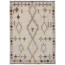 Oversize Rug Contemporary Moroccan Style Oversize Rug With Tribal Design At