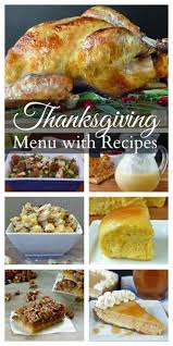 thanksgiving thanksgiving dinner menu and recipes tastes