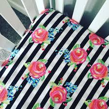 Roses Crib Bedding Fitted Crib Sheet Black And White Stripes Roses Crib Sheet