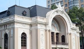 saigon vietnam may 2 2015 the facade of saigon opera house