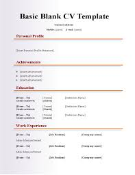 Sample Resume For Radiologic Technologist by Blank Cv Format Doc 40 Blank Resume Templates Free Samples