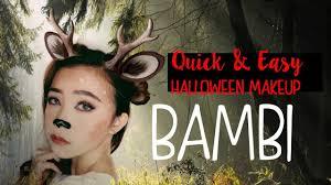 last minute simple u0026 easy halloween make up look tutorial youtube
