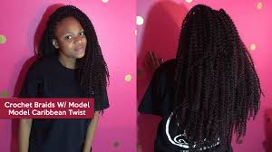 watch me install crochet braids w model model caribbean twist