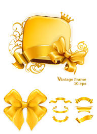 gilded ribbons vector free vector stock illustrations art clip