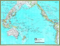 Map Of Oceans Pacific Ocean Political Atlas Wall Map Maps Com