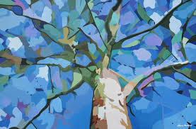 saatchi abstract tree painting by nancy aurand humpf