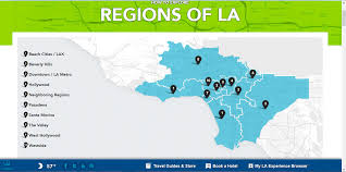 Map Of Los Angeles Beach Cities by Discover La