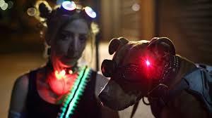 Create Halloween Costume Cyberpunk Led Eye Prosthetic Halloween Costume