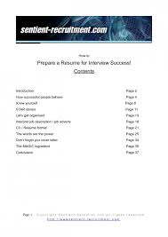 excellent how to prepare a resume