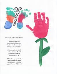 grandma hand and footprint art craft ideas pinterest