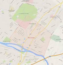 Google Map Pennsylvania Usa by Norristown Pennsylvania Map