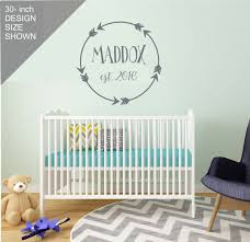 Boy Nursery Wall Decal Boy Nursery Wall Decal Personalized Boy Nursery Decor Aztec