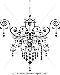 Free Chandelier Clip Art Vectors Of Chandelier Stock Vector Illustration Black