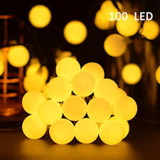 vmanoo globe battery operated timer string lights 100