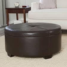 Fabric Storage Ottoman by Furniture Amazing Round Storage Ottoman For Home Furniture Ideas
