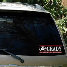 uga alumni car tag uga grady college bar design car decal dawgwear uga merchandise