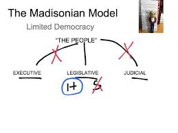 draw a schematic diagram of the madisonian model of government