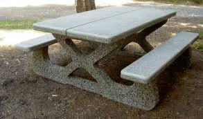 round cement picnic tables concrete tables product categories dominion precast