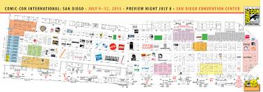 San Diego On Map by Sdcc 2015 San Diego Comic Con Exhibit Hall Map And Full Exhibitor