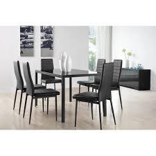 table cuisine chaise santa table à manger 6 personnes 140x80 cm 6 chaises en simili
