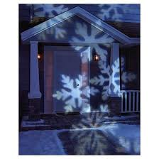 led rotating white snowflakes indoor outdoor