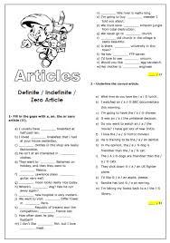 28 free zero article worksheets