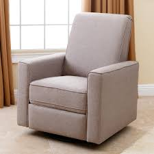 Reclining Rocking Chair Nursery Davinci Piper All Purpose Upholstered Recliner Grey With Cream