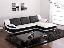 canap simili blanc canapé d angle trikala en simili bicolore noir et blanc angle droit