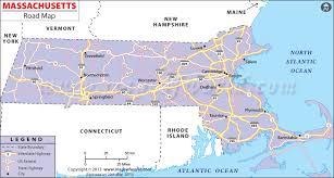 road map massachusetts usa road map