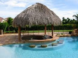 Tiki Hut On Water Vacation Custom Made Palm Trees Residential Tiki Huts