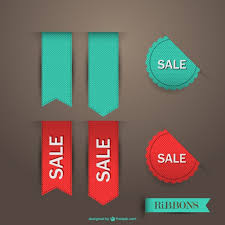 ribbon sale sale ribbon vector vector free