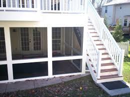 screened in porch underneath a deck porches st decks backyard