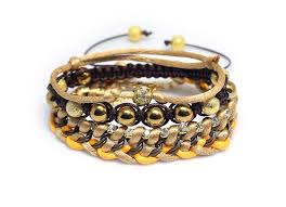 shamballa bracelet handmade images Ethnic gold hematite chain and bead stacking bracelets shamballa jpg