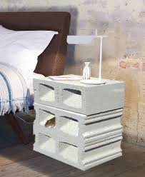 cinder block nightstand furniture design idea picture decofurnish