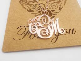 3 Initial Monogram Necklace Sterling Silver 69 Best Customized Necklace Images On Pinterest Monogram