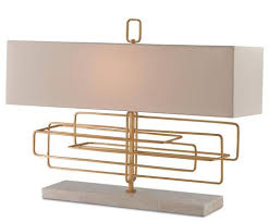 Rectangular Table Lamp Lighting Huff Harrington