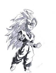 dragon ball z super saiyan 3 kid goku by acetrigger00 on deviantart