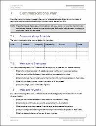disaster recovery plan template free sanjonmotel