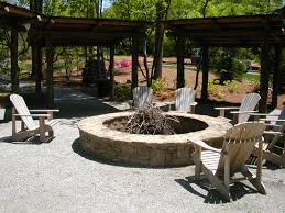 fire pit seating with wooden fences as decorate backyard small