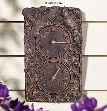 Patio Clocks Outdoor Thermometer Furniture For Patio Outdoor Clocks And Thermometers