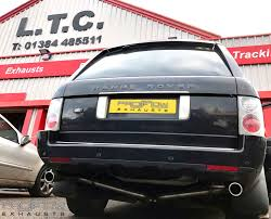 range rover rear range rover vogue and dual rear no boxes stainlees steel exhaust