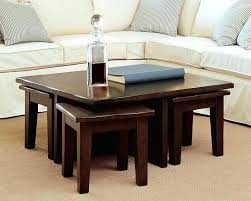 Sofa Table With Stools Coffee Table Stools Global Furniture S Shaped Glass Top Coffee