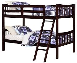 Espresso Twin Trundle Bed Amazon Com Angel Line Fremont Twin Over Twin Bunk Bed Espresso