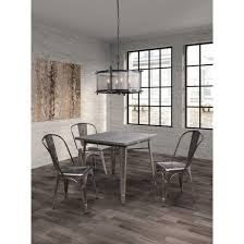 Industrial Style Dining Room Tables Industrial Style Metal Dining Chairs Set Of 2 Zm Home Target