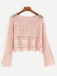 crochet blouses crochet blouse in pink
