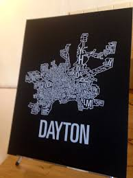Map Dayton Ohio by Must Have Dayton Merchandise Dayton Oh
