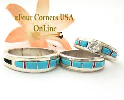 American Wedding Rings by Native American Engagement Wedding Ring Sets Turquoise Bridal