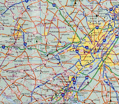 Map Of Philly City Map Of Philadelphia U0026 Mid Atlantic States Usa Itm