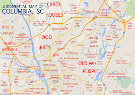 Map Of Orlando by Columbia Sc By Anonymous Copr 2015 Judgmental Maps All Rights