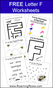 letter f free alphabet worksheets for kids roaming rosie